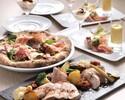 【カジュアルコース】釜焼きピッツァ、選べるメイン等全5品 3,980円
