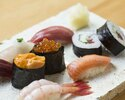 【Dinner Online Special】 Sazanami set - Sushi (8 pieces) with a complimentary welcome drink