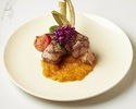 "Grilled ""Oosawa,, pork sage and yellow tomato chutney"