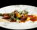 テーブル席/「四季の薫」蝦夷アワビ・和牛イチボ肉など全7品(ドリンク1杯付き)