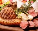 【山形牛とブランド豚「TOKYO X」盛り合わせの「肉」コース】…6,000yen(自社醸造クラフトビール5種付き2H飲み放題)