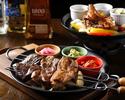 【お食事のみ】≪炎≫肉コンボのファフィータが主役のMucho course♪オリジナルタコスプレートやメキシコの王道を楽しめる全7品