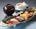 1ドリンク付き!新鮮なネタの持ち味をご堪能いただける江戸前寿司「勘六にぎり」