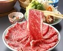 【和牛しゃぶしゃぶランチ】乾杯スパークリングワイン お造り又は天ぷら付き!牛しゃぶコース「松」