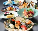 寿し懐石「雪」(ランチ)加賀懐石と江戸前寿司を合せて堪能+乾杯スパークリングワイン付き!