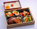 Bento with salisbury steak & sauted foie gras