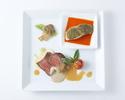 お肉&お魚のダブルメインプレートランチ+サラード&スイーツアイランド付