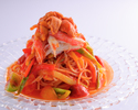 Summer seafood pasta with snow crab and sea urchin