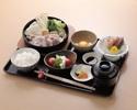 【伊達鶏のすき焼き御膳】福島県産伊達鶏のすき焼き、福島県産コシヒカリなど