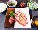 薩摩牛中落ちカルビ&豚焼きすきランチ