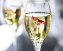 【土日祝プリフィクスランチ全4品】 選べる前菜&メインなど全4品+シャンパン含むフリーフロー