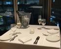 【窓際ペアシート確約】メインは牛フィレ肉のロッシーニ!乾杯スパークリングワイン付き デザートはホールケーキ! プレミアムペアディナー