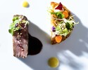 週末ランチ Degustation(4品のコース)国産牛にアップグレード + ウェルカムドリンク