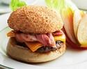 【オンライン予約限定特典】 ランチ チーズバーガー + ウェルカムドリンク