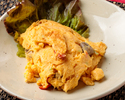 Stir-fried king crab with egg