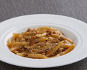 Maccheroni al ferretto  sauce with sausage, wild fennel seeds
