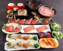 【贅沢コース全12品】2時間30分制◆人気の元祖焦がしタレ肉土鍋付◆