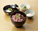 【テーブル個室】和牛ローストビーフ丼  5,500円