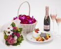 【アニバーサリーディナー】乾杯スパークリング・ケーキ・花束・記念写真の特典付!フルコース全5品 優雅で思い出に残る記念日を