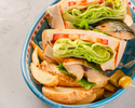 【本日のデザート付】4種の選べるサンドウィッチ