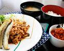 11月メニュー 【柿の種ラー油付き】豚肉のスタミナソース