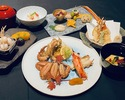三種の蟹を食べ比べ『お昼のミニ懐石』