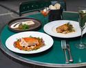 【CASUAL / 土日祝】前菜2種、魚料理、肉料理のWメインなど全5品 + 1ドリンク + カフェフリー