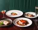 【PRIX FIXE COURSE / 月~木】前菜、パスタ、魚料理、肉料理Wメイン、デザートなど全6品+2時間飲み放題