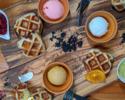 【復活★ワッフル食べ放題】アイスやソースを選んであなた好みにデコレーション★60分間食べ放題「HOTEL de WAFFLE」
