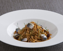 Toasted breadcrumbs spaghettini, sardine, raisin and pine nuts Sicilian fashion