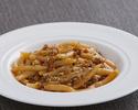 Maccheroni al ferretto  sauce with sausage, wild fennel seeds