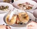 【PREFIX LUNCH 3800 YEN】スパークリング含む1ドリンク付!4種前菜とメイン・パスタ・デザートが選べる全4皿