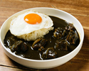 Fried egg black curry