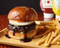 神户牛肉100%红烧鸡蛋汉堡