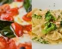 【おひとり様2200円】前菜盛合せやローマピッツァにスパゲッティーなどイタリアン全6皿