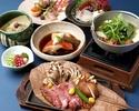 《お食事に》【個室確約】比内地鶏の薬膳水炊きや黒毛和牛の朴葉味噌焼き、金目鯛の煮付けなど9品