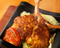 《人気NO.1》筑波鶏もも肉一枚焼きと自慢の炭火焼き鳥など9品【お食事のみ】 3300円(税込)