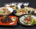 名物の「かつをの藁焼き塩たたき」や人気の「炙り鯖棒寿司」など全10品【2時間飲み放題付き】黒潮コース