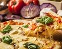 【お食事に】焼き立て窯焼きピッツァや48時間熟成ローストポークが楽しめるスタンダードプラン