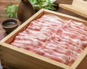 ≪2H飲み放題付き≫国産豚のせいろ蒸し又は月見塩しゃぶしゃぶ、鶏すき鉄板焼き、お造り八寸盛合せなど10品