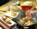 【秋田産比内地鶏のとりすき瓦鍋昼懐石】 3800円(税別)