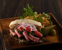 ROAST BEEF CIABATTA SANDWICH -french fries-