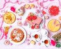 2月【水曜限定デザートビュッフェ】白薔薇を赤く染めるウインターローズガーデン