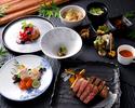 【ディナー】◆夕凪-Yunagi-◆ メインのお肉は『神戸牛サーロイン』+海鮮付き!旬の前菜や季節ご飯デザートも♪     ★ネット予約特典8%OFF★