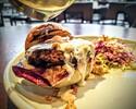 【Taxi Delivery】Pork Salsiccia Burger, Roasted Apple & Gorgonzola, Hazelnut, Coleslaw