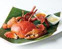 Fried Garlic Bassil Crab  Medium