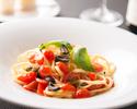 ①白魚と小松菜のペペロンチーノ スパゲッティ