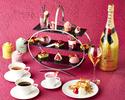 【2021年2/1~3/31】 乾杯シャンパン付き ルビーチョコレートと苺で彩る「Pink afternoon tea」
