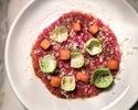 【TakeOut】Tuna Carpaccio, Balsamico, Horseradish, Squash Crouton