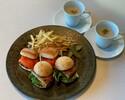 【TAKEOUT】パテ・グランメールとサーモンのミニバーガー(スープ・フレンチポテト付き2人前セット)